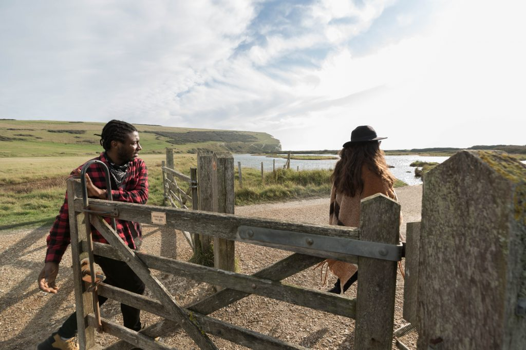 Young people walking through Seven Sisters Country Park