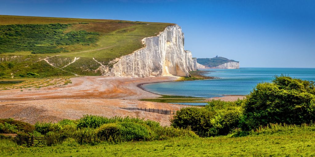 Image of the famous chalk cliffs at Seven Sisters Country Park